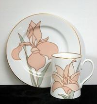 1982 Fitz and Floyd 'Fleur de Paris' Mug and Salad Plate Set - $19.95