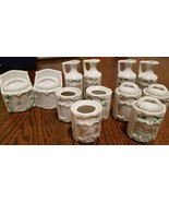 Antique Porcelain Miniature Spice Canister Set -  Late 19th Century - $247.50