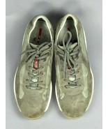 "PRADA Americas Cup Luxury Gray Suede 4E 2043 Auth Men""s Sneakers Shoes U... - $84.14"