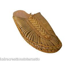 Men Slippers Indian Handmade Traditional Leather Flip-Flops Boho Slip On US 8  - $34.99