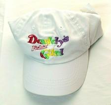 Daddys Fishin Girl White Cap Hat Rainbow Toddler Child Size Adjustable Back - $11.10