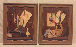 Set of 2 vintage framed prints wall art by RH Redelius musical instruments - $10.00