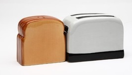 Magnetic Salt and Pepper Shaker - Toaster and Toast - $15.44