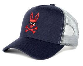 Psycho Bunny Men's Embroidered Snapback Mesh Mischief Baseball Cap Hat image 8