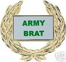 Army Brat Gold Wreath Pin - $13.53