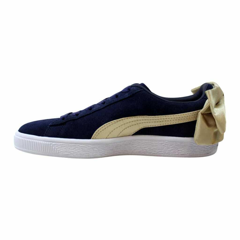 Puma Suede Bow Varsity Peacoat/Metallic Gold  367732 02 Women's Size 8
