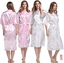 Hot Sale Silk Satin Short Bridesmaid Sleepwear Wedding Pink Robes Women /Man  - $20.55