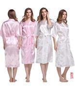 Hot Sale Silk Satin Short Bridesmaid Sleepwear Wedding Pink Robes Women ... - $20.55