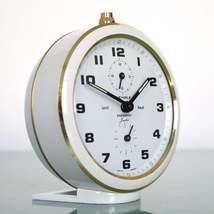 WEHRLE SANSSOUCI Duplex SOFTIC Alarm Top!! Mantel Clock Germany Mid Cent... - $249.00