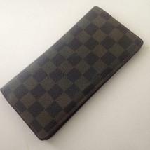 Authentic Louis Vuitton, Damier Ebene Long Wallet 7.25in x 4.5n (SP2087) - $237.45