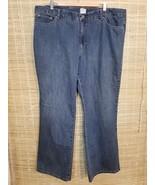 JMS JUST MY SIZE WOMEN'S DENIM BLUE JEANS SIZE 24W COTTON BLEND 44 X 32 ... - $14.69