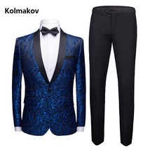 "(Jacket +Pants) 2019 autumn new style Men""s Embroidery suits wedding dre... - $101.90"