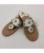 Women's Jack Rogers White and Gold Nantucket Sandals, 7 sz 7 - $85.03