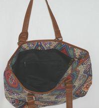 Howards Product Number 68985 Large Shoulder Bag Multi Color Paisley Print image 3