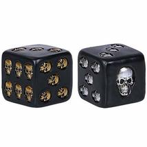 Pacific Giftware Decorative Black Skull Dice of Death 2 Inches Each Set of 2 - $12.99