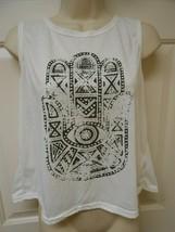 Relipop Women's T-shirt tunic Top sz Small jrs open back Short sleeveles... - $8.90