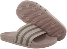 Women's adidas Originals Adilette Aqua Slide Vapour Grey/Clay/Vapour Grey Sz 11 - $51.48
