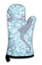Oven Mitt, With Seahorses - $24.50+