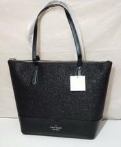 NWT Kate spade lola glitter tote laptop shoulder bag satchel Black handbag - $89.00