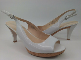 "Nine West White Slingback 3 3/4"" High Heel 8 1/2 M 8.5 VGC - EXC COND - $12.95"