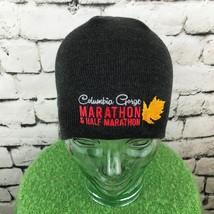 Columbia Gorge Marathon Mens Hat Gray Stretch Knit Beanie Warm Winter Skull Cap - $19.79