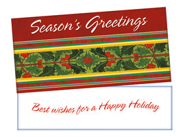 Best Wishes ~ Christmas Holiday Gift Card or Money Holder - $5.00