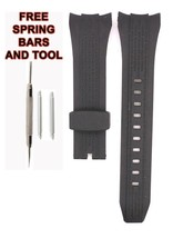 Compatible Seiko SPC106P1 26mm Black Rubber Watch Strap SKO103 - $28.71
