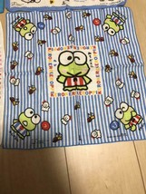 Sanrio Vintage KeroKero Keroppi Gauze Handkerchief Towel New Rare Cute - $33.79