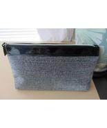 Lancome Black Silver Lurex Metallic Cosmetic Bag - $10.88
