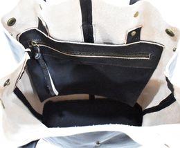 Women's Leather Boho Chic Purse Studded Expandable Lined Transport Tote Handbag image 6