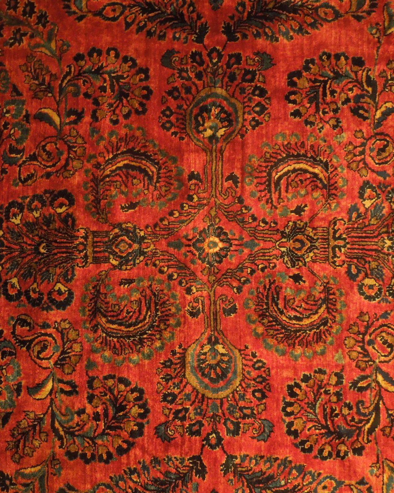 Red Sarouk Persian Wool Handmade Rug 11' x 18' Vivid Red Detailed Original Rug image 10