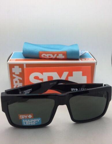 Neu Spy Optic Sonnenbrille Cyrus Scheinend Schwarz Rahmen W / Föhlich Grau Grün