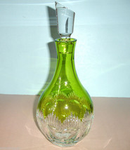 Waterford MIXOLOGY Decanter Neon Lime Green & Clear Crystal #156826 New - $418.90