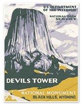 "Devils Tower National Park Service Print - measures 18"" wide x 24"" high ... - $19.95"