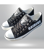 raiders shoe women sneakers mens fashion raiders tennis shoe oakland fan... - $59.99+