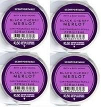 Bath & Body Works Black Cherry Merlot Scentportable Car Fragrance Refill x4 - $18.99