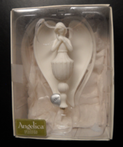 Seasons Of Cannon Falls Christmas Ornament Angelica Dream Angel Porcelain Boxed - $12.99