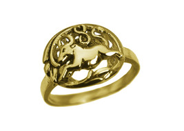 TAURUS 24K Gold Plated Ring Zodiac Astrology sign The Bull Jewelry Pick ... - $26.25