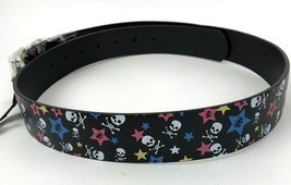 Belt Printed Stars Skulls Mens Womens Unisex Removable Buckle XL 42-44 r... - $14.80