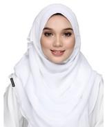 BOKITTA ABYADI - BASIC LITE CHIFFON INSTANT HIJAB Muslim Scarf Veil Shawl - $44.82+