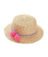 Gentle Meow Baby Girl Hat Summer Beach Sun Hat Straw Hat 3-8 Year Old, R... - $19.80