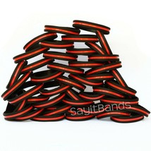 Set of CHILD Size Thin RED Line Bracelets Fire Fighter Department Wristb... - $5.82+