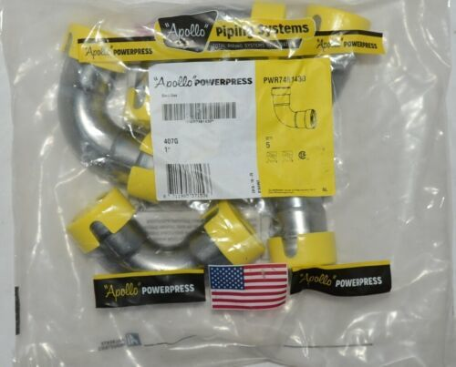 Apollo Powerpress PWR7481430 407G 90 deg Elbow 1 in Carbon Steel Bag of 5