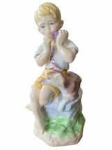 Royal Worcester Boy And Dog Birthday Figurine 3456 June F G Doughty England - $49.95