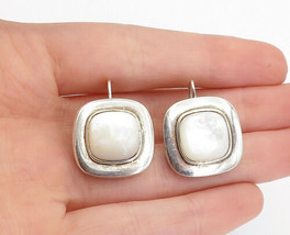 925 Sterling Silver - Vintage Mother Of Pearl French Back Drop Earrings ... - $37.40