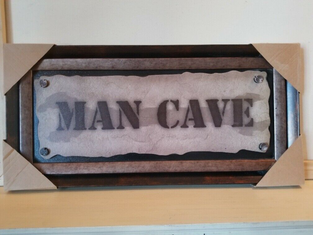 NEW Man Cave Wall Plaque Sign Bar Garage Den Cabin Lodge Decor Free Shipping - $29.99