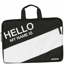 "Sprayground Hello My Name Is Black White 13"" Laptop Case Bag NEW"