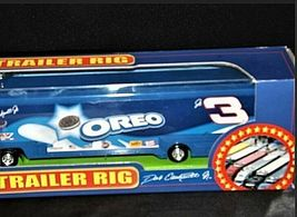 Blue Oreo Dale Earnhardt Jr. #3 NASCAR Die-Cast Collector Trailer Rig AA19-NC800 image 4