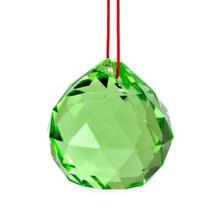 Vert Feng Shui Suspendus Boule de Cristal 3.8cm 40mm Sphère Prism Arc en... - $5.87