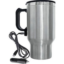 Brentwood Electric Coffee StainLess Steel 16 oz Mug With Wire Car Plug  - $14.97
